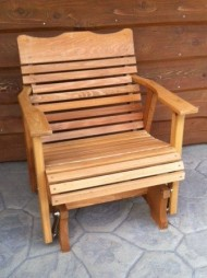 2′ Cedar Porch Glider W/stained Finish, Amish Crafted