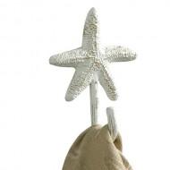 Tropical Nautical Starfish Single Wall Towel Hook Hanger