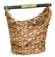 Quickway Imports Rustic Toilet Paper Holder/Magazine Basket