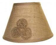 10″ Burlap Rosette Lamp Shade