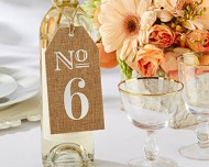 Kate Aspen Burlap Table Numbers: 1 to 6