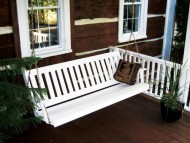 Traditional English 4ft. Porch Swing – Amish Made – 4 foot Painted White
