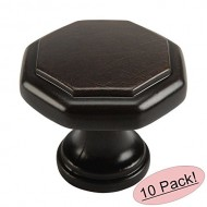 Cosmas 5181ORB Oil Rubbed Bronze Cabinet Hardware Octagon Knob – 1-1/4″ Diameter, 10-Pack