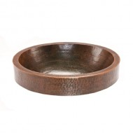 Premier Copper Products VO18SKDB 18″ Oval Skirted Vessel Hammered Copper Sink