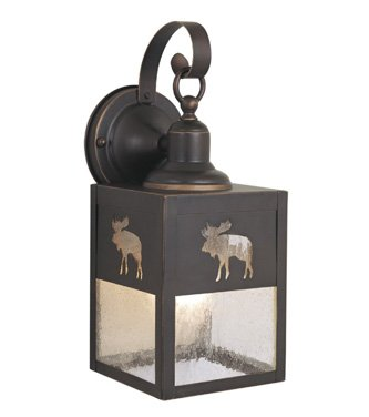 Vaxcel OW24963BBZ Yellowstone 5-Inch Outdoor Wall Light, Burnished Bronze