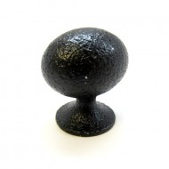 Lot of 10 Rustic Hammered Black Solid Oval Oblong Cabinet Hardware Knobs Pulls C004BLK Ancient Treasures
