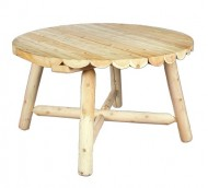 Cedarlooks 0200013 Log Round Dining Table, 48-Inch