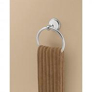 Franklin Brass  126882 Bellini Towel Ring, Polished Chrome & White