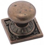 Amerock BP4484RBZ Ambrosia Euro Stone Square Knob, Rustic Bronze, 1-1/4-Inch