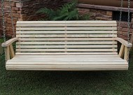 ROLL BACK Amish Heavy Duty 700 Lb 5ft. Porch Swing- Made in USA