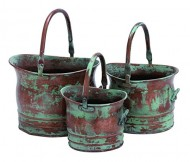 Deco 79 Metal Planter, 13-Inch, 11-Inch and 9-Inch, Set of 3