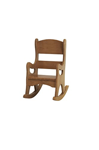 Amish-Made, Handcrafted Children's Wooden Rocking Chair (Harvest Finish)
