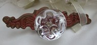 Rustic Shabby Distressed Barn Red Filigree Drawer Pull Vintage Home Decor Accent