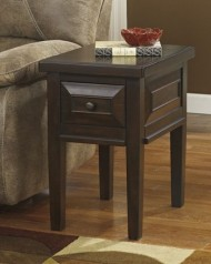 Ashley Furniture Signature Design Hindell Park Chair Side End Table, Rustic Brown