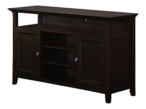 Simpli Home Amherst Tall TV Media Stand for TVs up to 60″, Dark Brown