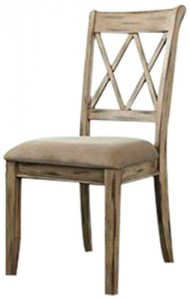Ashley Furniture Signature Design Mestler Dining UPH Side Chair, Antique White, Set of 2