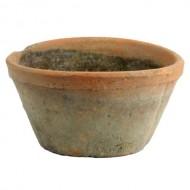 HomArt Rustic Terra Cotta Oval Pot, Medium, Antique Red, 1-Count