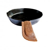 Rustic Leather Hot Handle Holder (Panhandle Potholder) Double Layered, Double Stitched & Handmade by Hide & Drink