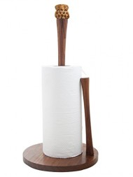 Toilet Tissue Paper Holder Handcrafted in Rosewood Bathroom Free Standing Paper Towel Roll Stand