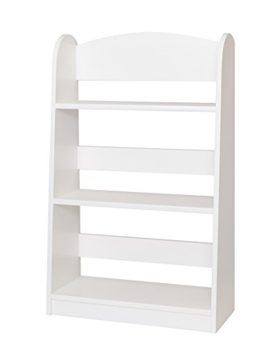 Amish-Made, Handcrafted Children's Wooden Bookshelf (White Painted Finish)