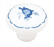 Brainerd P95719V-WB-C7 1-1/4-Inch Ceramic Cabinet Hardware Knob With Flower