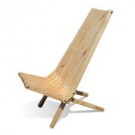 GloDea X45P1NS1 Lounge Chair, Natural, Set of 1