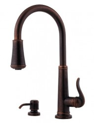 Pfister F-529-7YPU Ashfield 2 or 4-Hole Pull-Down Kitchen Faucet, Rustic Bronze