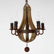 LightInTheBox Vintage Amercian Rustic Wooden Pendant Wine Barrel Chandelier Lamp Liviing and Bedroom Lamp Ceiling Lights