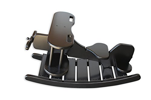 FireSkape Unique Amish Crafted Brown Maple Airplane Rocker Heirloom Toy In Black