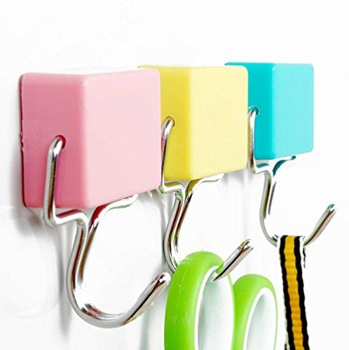 Moonse 3Pcs/Set Magnetic Hook fridge Coat Room Door Hooks Hanging Towel Decor Hangers