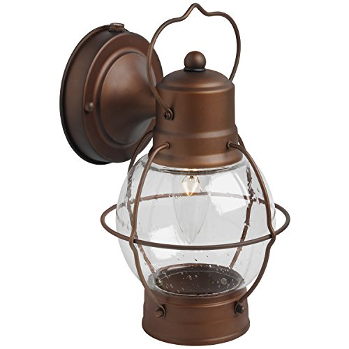 Brinks 7546-624 Hampton Rustico Lantern Outdoor Lighting, Aged Bronze