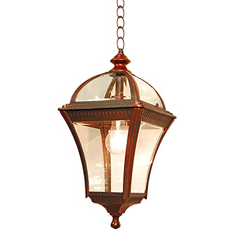eTopLighting Le Affinage Collection Oil Rubbed Rustic Finish Outdoor Lantern Light Beveled Glass, Pendant APL1122