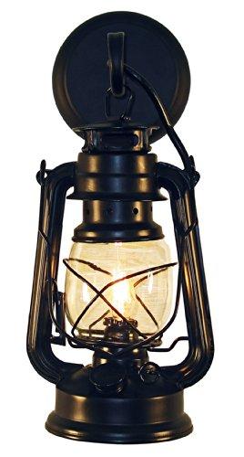 Rustic lantern wall mounted light – Small Black