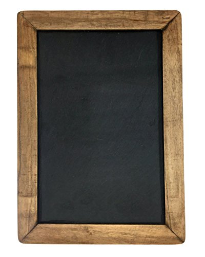 Vintage Framed Slate Kitchen Chalkboard ( 7″ x 10″) – Decorative Chalk Board for Rustic Wedding Signs, Kitchen Pantry & Wall Decor