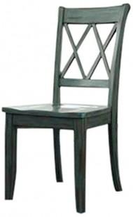 Ashley Furniture Signature Design Mestler Dining Room Side Chair, Antique Blue, Set of 2
