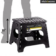 Kitch N' Wares – 11 Inch Heavy-Duty Quality Folding Step Stool With Handle – Safe Non Slip Surface For Kids And Adults – Super Handy Saves Space For Work And Home – Super Strong Holds Up To 300 Pounds
