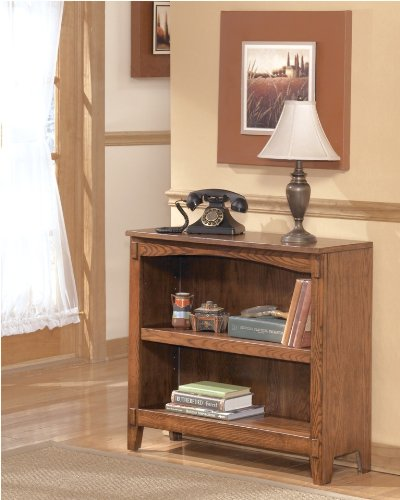 Ashley Furniture Signature Design Cross Island Bookcase, Small, Medium Brown Oak Stained Finish