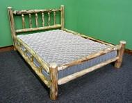 Midwest Log Furniture – Rustic Log Bed – Full