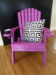 Poly Adirondack BIG BOY Chair- OVERSIZED *White* Amish Made USA