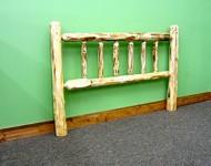 Midwest Log Furniture – Rustic Log Headboard – Full