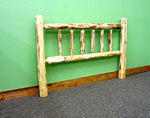 Midwest Log Furniture – Rustic Log Headboard – King