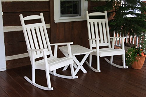 Outdoor POLY Classic Porch Rocker – Amish Made USA -Bright White- ONE ROCKER ONLY!!!