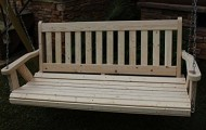 Amish Heavy Duty 700 Lb 4 Ft. Mission Style Porch Swing – Made in USA