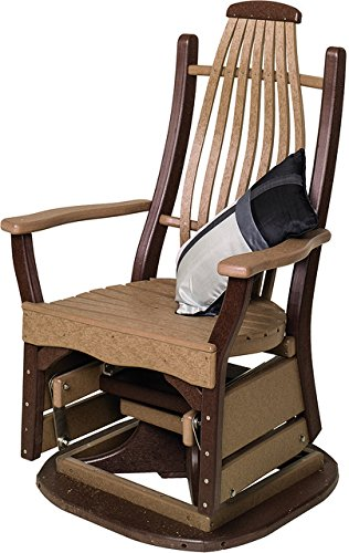 Poly Lumber Bentwood Style Swivel Glider in Black – Amish Made in USA