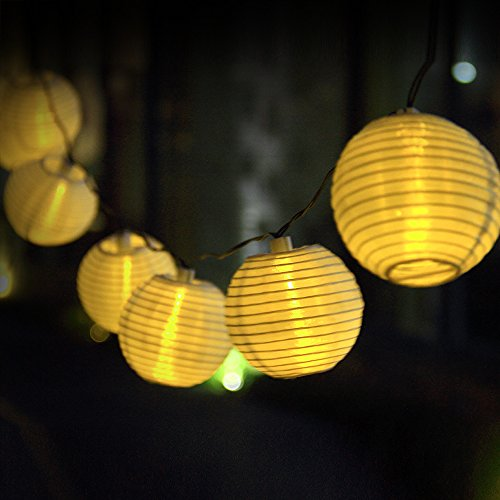 Solar String Lights Outdoor 15.7ft 20 LED Fairy lights Warm White Lantern Ball Christmas Globle Lights for Garden Path Party By Innoo Tech