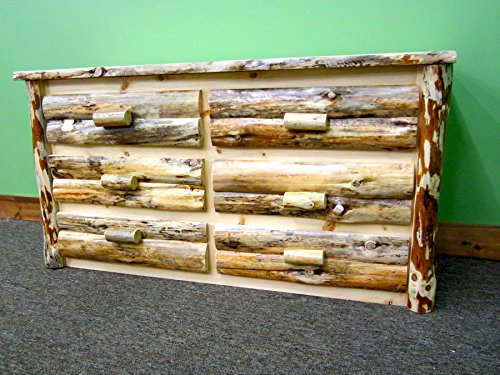 Midwest Log Furniture – Rustic Log Dresser – 6 Drawer
