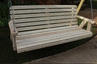 Amish Pine Heavy Duty Wide Slat 700 Lb 5ft. Porch Swing- Made in USA