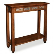 Rustic Slate Hall Stand – Rustic Oak Finish