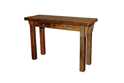 Rustic Natural Reclaimed Barn Wood Sofa Table – Amish Made in USA (Urban Distress Stain)