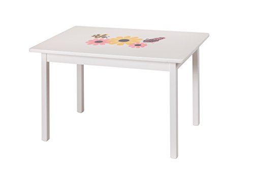 Amish-Made, Handcrafted Children's Wooden Table (White Painted Finish- No Stencil On This Model)